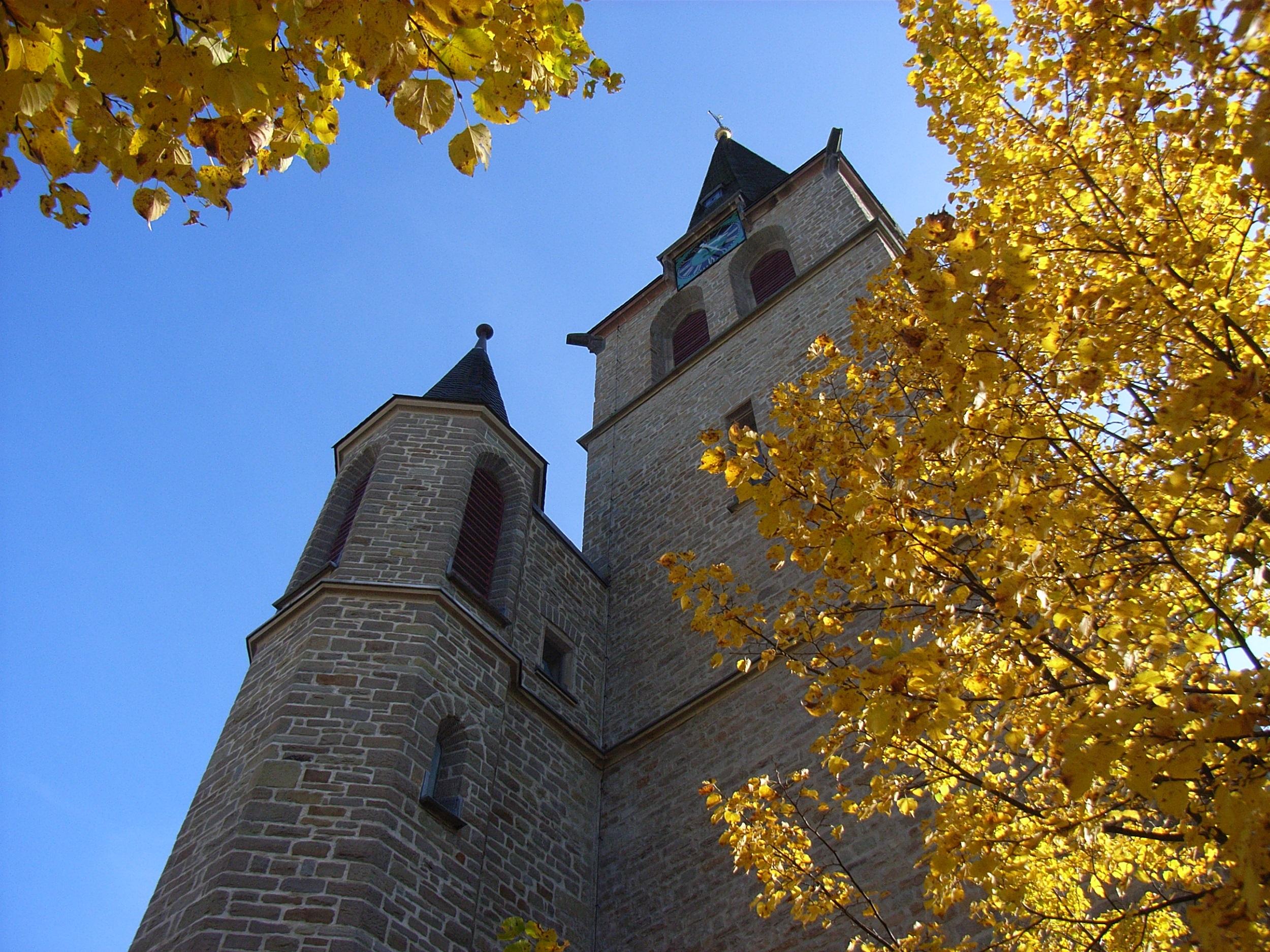 Kirchturm der katholischen Kirche Gummersbach
