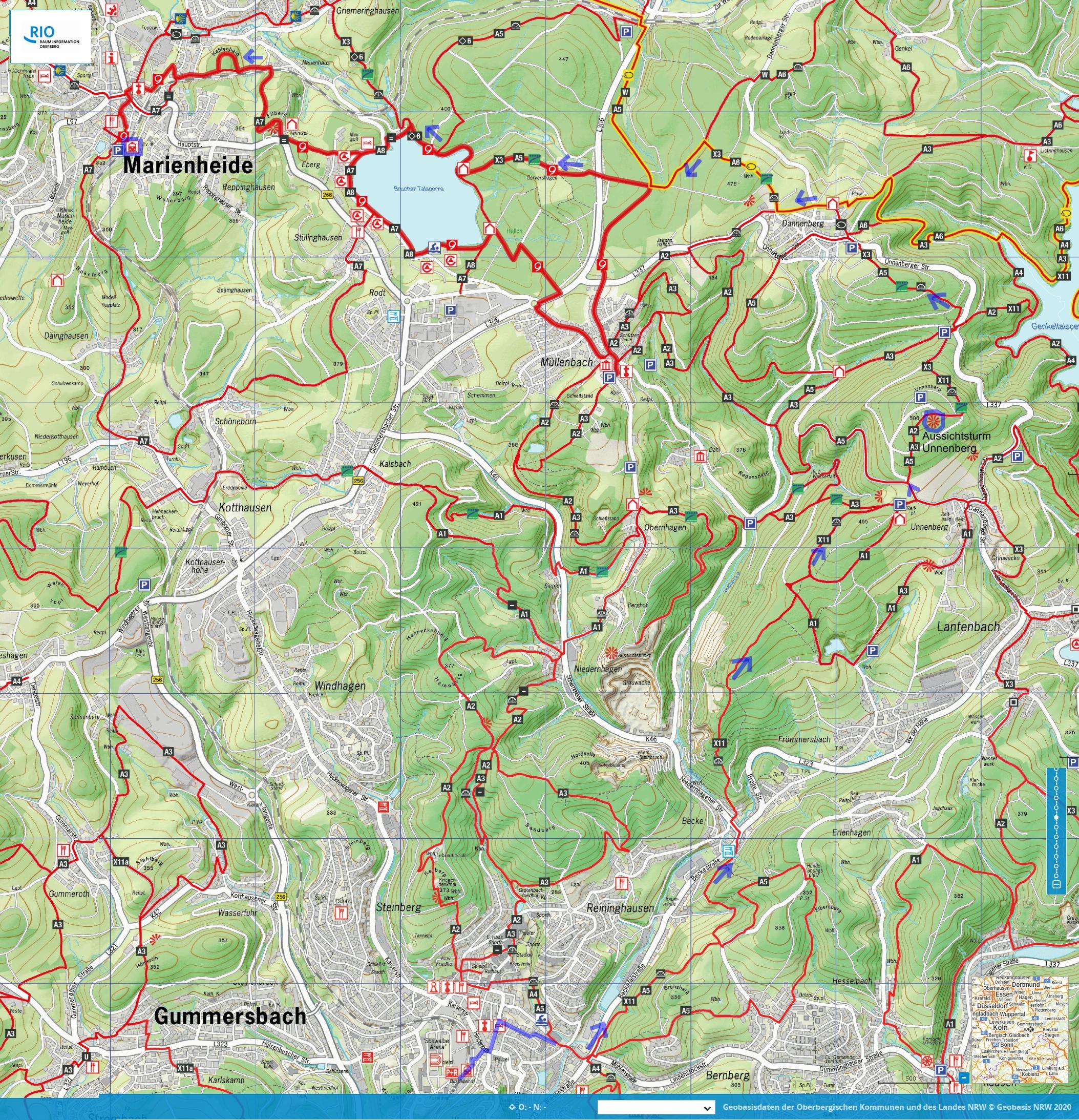 Streckenwanderung Gummersbach-Marienheide
